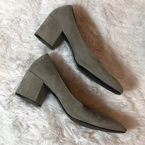 Kenneth Cole Grey Suede 8.5 Block Heels